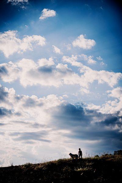 nuage enfant chien